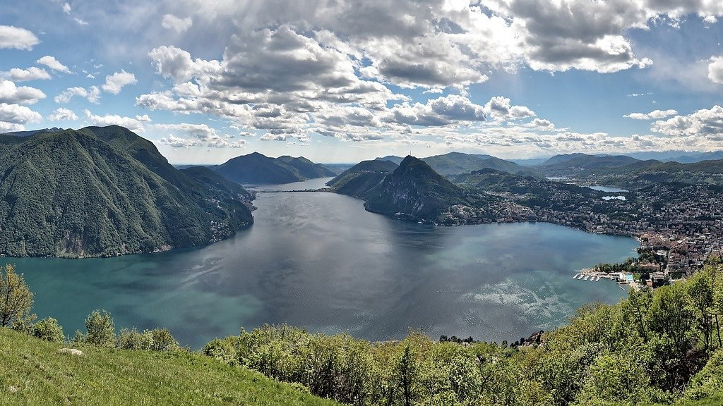 Lugano Blick vom Monte Bré