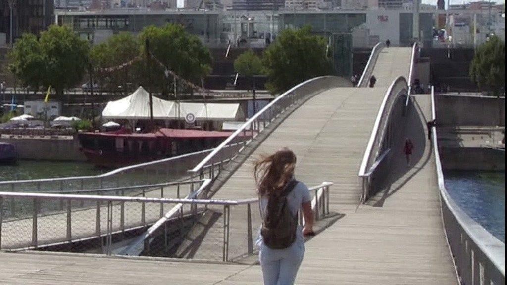 """Fußgängerbrücke """"Passerelle Simone-de-Beauvoir"""""""