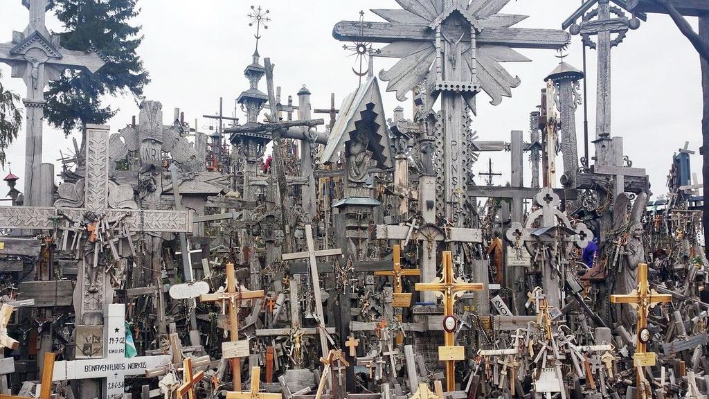 Siauliai Berg der Kreuze